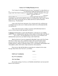 wedding planning contract templates wedding planner resumes templates franklinfire co