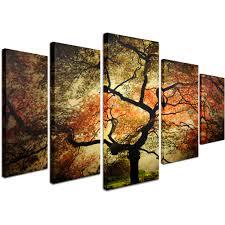 trademark fine art japanese canvas art by philippe sainte laudy 5 panel set com