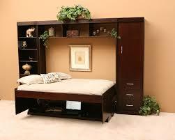 wood desk bed