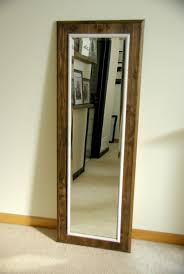 white leaning floor mirror. Simple Mirror Tall Floor Standing Mirror Stylish DIY Frame Intended For 17  On White Leaning