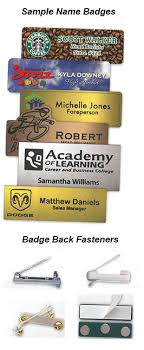 Sample Name Badge Specialty Trophies And Engraving Kingston On Embroidery