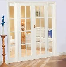 internal french doors with side panels white finish home
