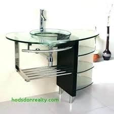 glass vessel sink vanity bowl vanities faucet bathroom pedestal modern