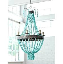 white wood bead chandelier blue beaded medium size of throughout prepare 18
