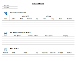 what is a travel itinerary 41 itinerary template travel trip wedding vacation