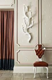 wallpaper and molding idea