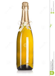 Champagne Bottle Decoration Champagne Bottle With Wedding Decoration Royalty Free Stock