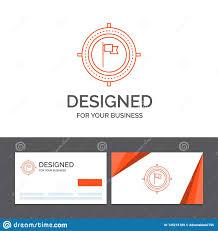 Design Focus Cards Business Logo Template For Aim Business Deadline Flag