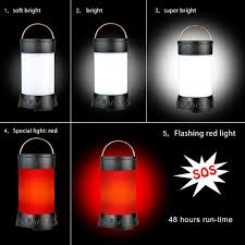Red Light Camping Lantern 350 Lumens Rechargeable Portable Outdoor Led Camping Lantern