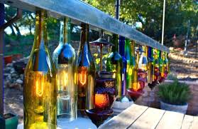 how to make a glass bottle chandelier glass bottle idea chandelier for outdoor living space 3