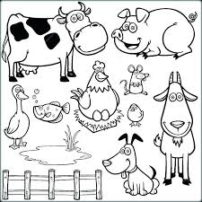 Cute Cartoon Animals Coloring Pages