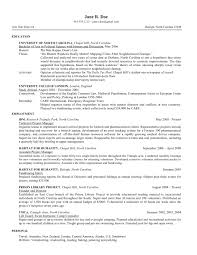 Jane's revised resume