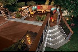 patio deck lighting ideas. Practical Tips And Ideas For The Different Types Of Deck Lights : Trex Composite Step Patio Lighting