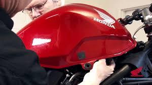 cbr250r race kit installation reinstalling the fuel tank youtube Honda Motorcycle Wiring Color Codes 2012 Honda Cbr250ra Wiring Diagram #44