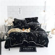 velvet bedding sets luxury soft velvet bedding set black stars duvet cover sets warm winter bed velvet bedding sets