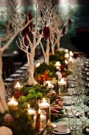 351 best irish theme images on pinterest ireland wedding, irish Wedding Inspiration Ireland rich fall tablescape idea with mossy greens, elegant branches and lots of floating candles love the tree branches for an autumn or forest wedding look Ireland Cliff Wedding