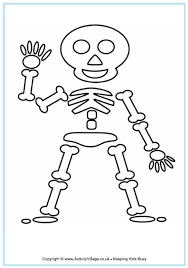 Small Picture Skeleton Colouring Page