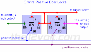 car security and convenience power door locks multiple wire 3 wire positive door locks relay diagram