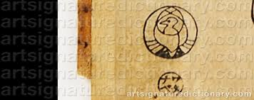 kitagawa logo. signature by: kitagawa utamaro kitagawa logo