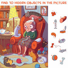 Solve mysteries, find the difference or even hidden numbers! Hidden Objects Pets Puzzle Prime