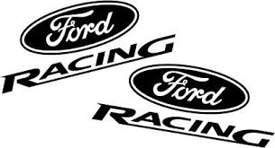 black ford racing logo. ford racing decal set flat black mdf05 c22 logo