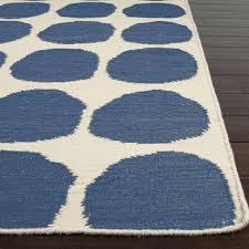 flooring rugs charming dhurrie with blue dotted motif for