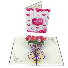 Mothers Day Flower Card Pop Up Happy Mothers Day Cards 3d Milkshake Flower Card Handmade Greeting Birthday Cards For Mom With Envelope And Glue