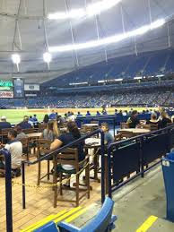 Tropicana Field Section 131 Row H Seat 10 Tampa Bay