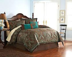 brown paisley bedding western paisley bedding brown turquoise comforter sets bed sheets for 5 enchanting brown paisley bedding