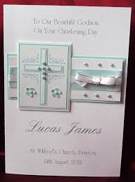 Baptism Cards Personalised Handmade A5 Christening Card Boy Grandson
