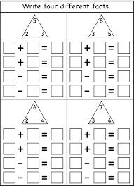 Fact Family Worksheets For 1st Grade - Checks Worksheet