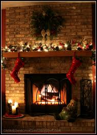 Decorating Fireplace Mantel For Christmas The Home Design Christmas Fireplace Mantel