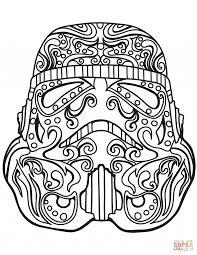 Coloring Pages Star Wars Stormtrooper Sugar Skullng Page Free