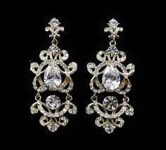gold bridal chandelier earrings vintage victorian style bridal jewelry wedding jewelry london