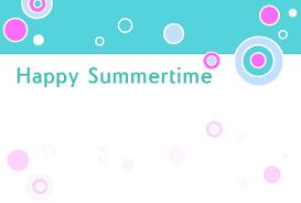ビタミン色のポストカード暑中見舞いポストカードデザイン水玉