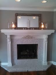 fireplace surround carrera marble 1 hexagon mosaic tile
