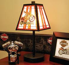 harley davidson lamp art glass motorcycle table lamp intended for decor harley davidson heritage lamp shade