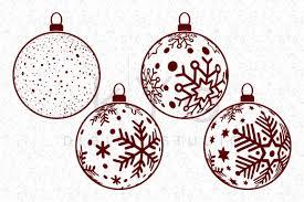 Available in png and vector. Christmas Tree Balls Snowflake Balls Christmas Svg Files For Cricut By Kyo Digital Studio Thehungryjpeg Com