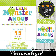 Lil Monster Birthday Invitations Little Monster Invitations Cute Little Monster Birthday Party
