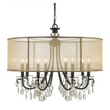 cool chandelier drum shades transpa spherical drum with a small light and crystal