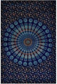 blue tapestry wall hanging small wall