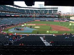 Oriole Park At Camden Yards Section 1 Seat Views Seatgeek