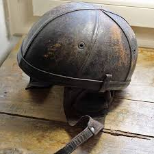 vintage bayard leather motorcycle helmet by petitmignongrandbeau