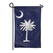 south ina state applique garden flag