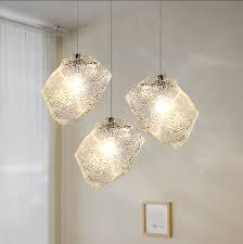bar ice cube rock lighting mini pendant lamp chandelier restaurant ceiling light