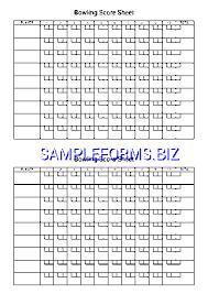 Bowling Score Sheet 3 Pdf Free — 1 Pages