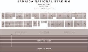 National Seating Chart Jamaica National Stadium Seating Chart Www