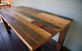 image of picture reclaimed wood desk