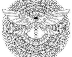 Small Picture Dragonfly mandala Etsy