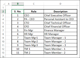 Excel Org Chart From Data Advanced Excel Organization Chart Tutorialspoint